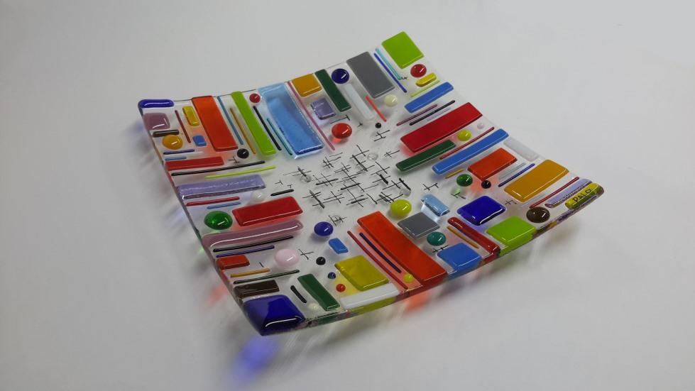 Kleur Veel Kleur : Vierkant met veel kleur schaal palodesign
